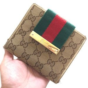 Authentic Gucci GG chery line Wallet